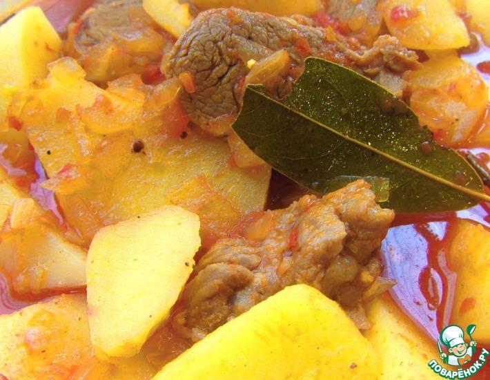 Рецепт: Жаркое из свинины в томатном соусе