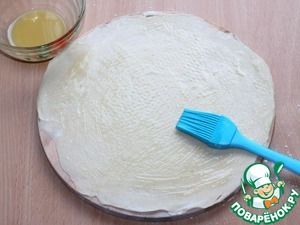 8. Brush the top of the pancake oil-flour mixture,...