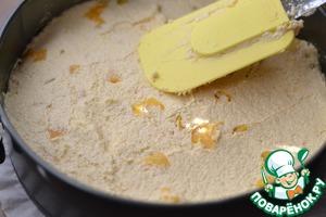 Форму для выпечки 25см. застелить бумагой.   Вылить тесто. Разровнять.   Печем в разогретой духовке на 170гр 35-40 минут.   Смотрите на свою духовку.