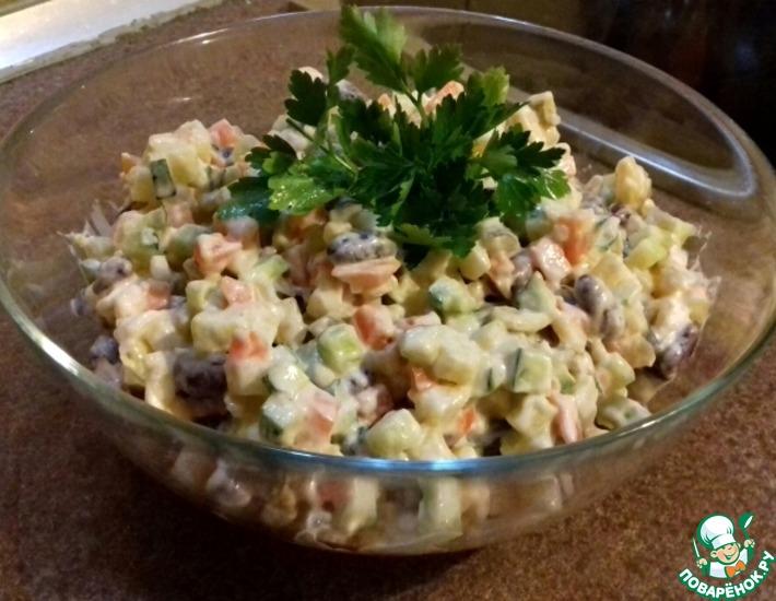 Рецепт: Салат постный Мгновенный