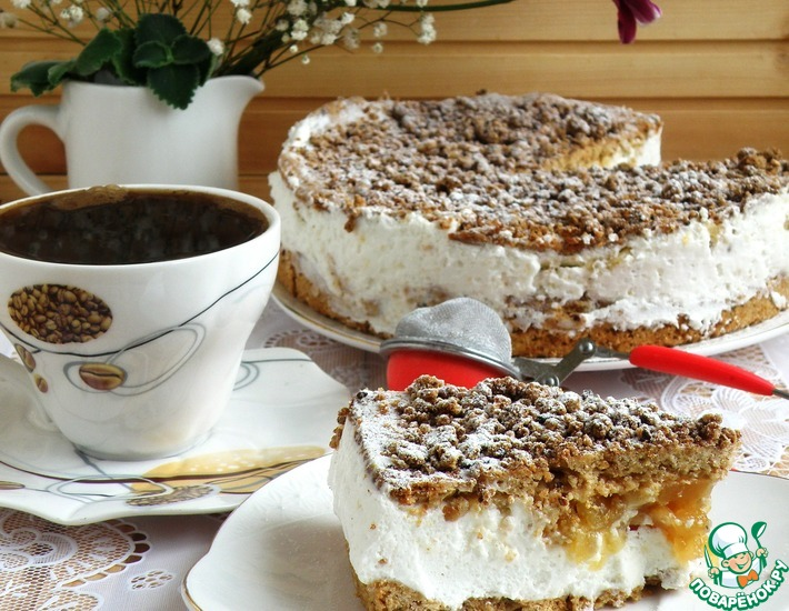 Рецепт: Торт «Яблочко на облачке»