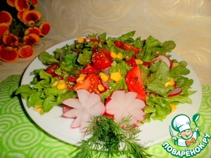 Are invited to enjoy a light salad in a spicy sauce.   Bon appetit!