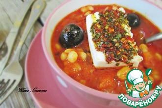 Рецепт: Густой томатный суп с белой фасолью