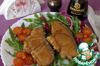 Рецепт: Маринованная рыба с чесноком