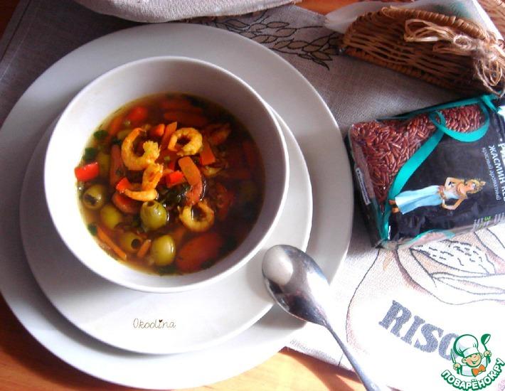 Рецепт: Суп с креветками