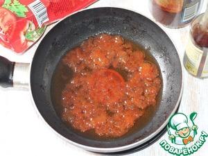 5. Add to garlic oil: ketchup, vinegar, honey,..