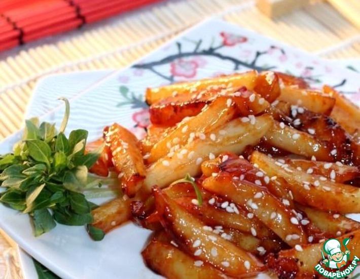 Рецепт: Картофель с перцем чили по-китайски