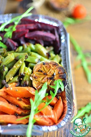 Cooked vegetables to cool slightly and eat!