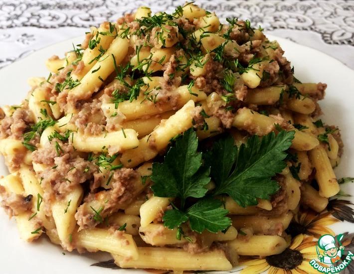 Рецепт: Самые вкусные макароны по-флотски