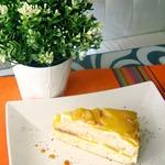 Бисквитный торт Персиковый рай