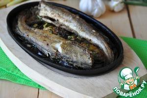 Serve fish with eggplant hot. Bon appetit!