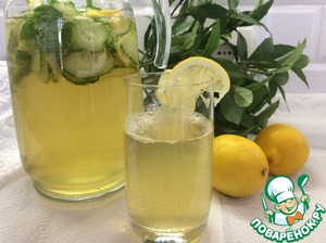 Освежающий лимонад из огурца и базилика
