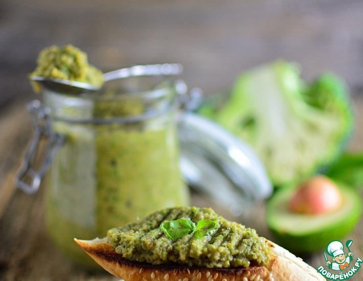 Рецепт: Паста из брокколи и авокадо
