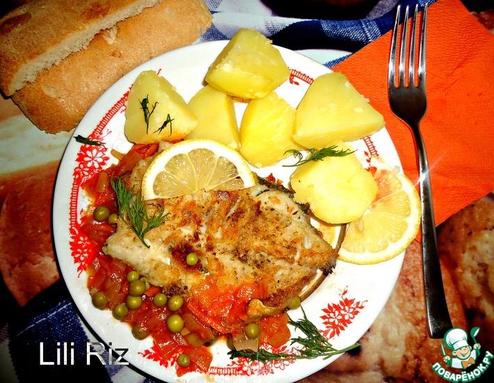 Рецепт: Рыба с овощной подливкой