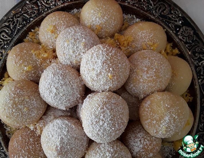 Рецепт: Печенье Апельсиновые шарики