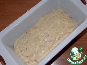 Выложить тесто в смазанную маслом форму и выпечь при 180С, в течении 20-25 минут.