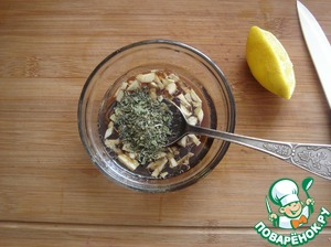 Add 1 teaspoon dry parsley and mix everything.