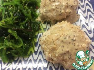 Serve with seaweed salad and peanut sauce.  Bon appetit!