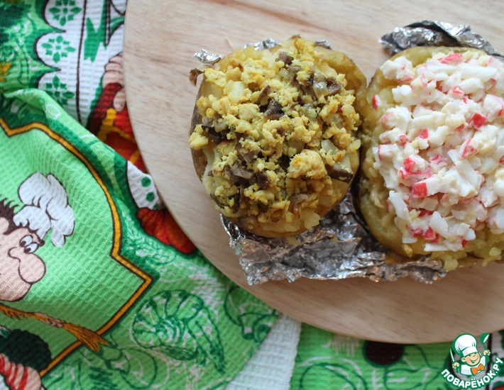 Рецепт: Фаршированый картофель Крошка-Картошка