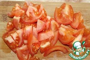 4. Tomatoes cut arbitrarily.