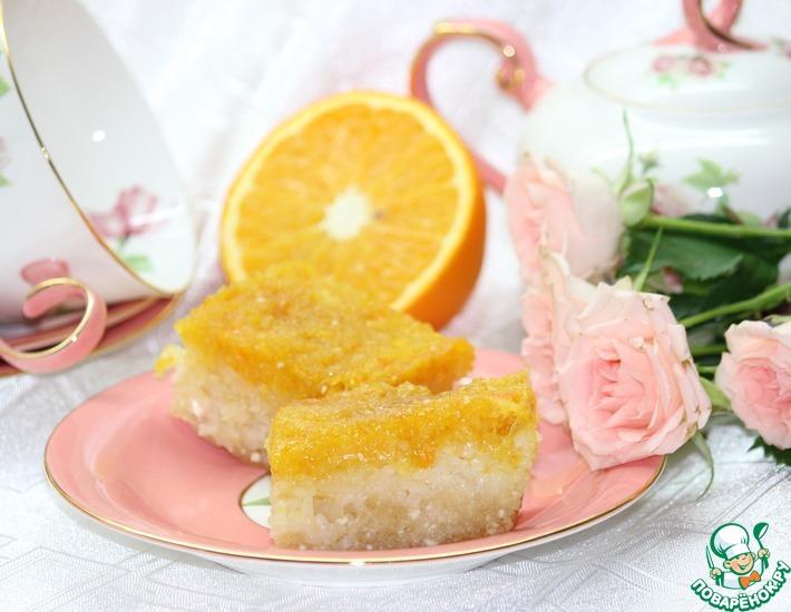 Рецепт: Рисово-творожная запеканка с апельсином
