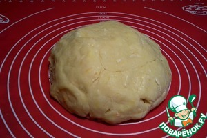Knead the dough. It should be very elastic and curvy.