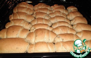 """Baked to """"glow"""" about 10 minutes (depends on the capacity of the oven) while baking is magical aroma of spices and bread!"""