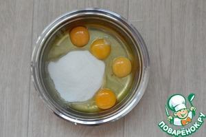Яйца соединить с сахаром Тм Мистраль