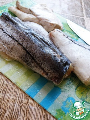 Fish cut into fillets with skin, by removing more bone. Ready fillet is better not to take, usually it comes out too dry.