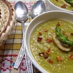 Суп-пюре с тыквой и спаржей