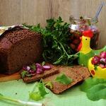 Хлеб с отрубями и пикантным топпингом