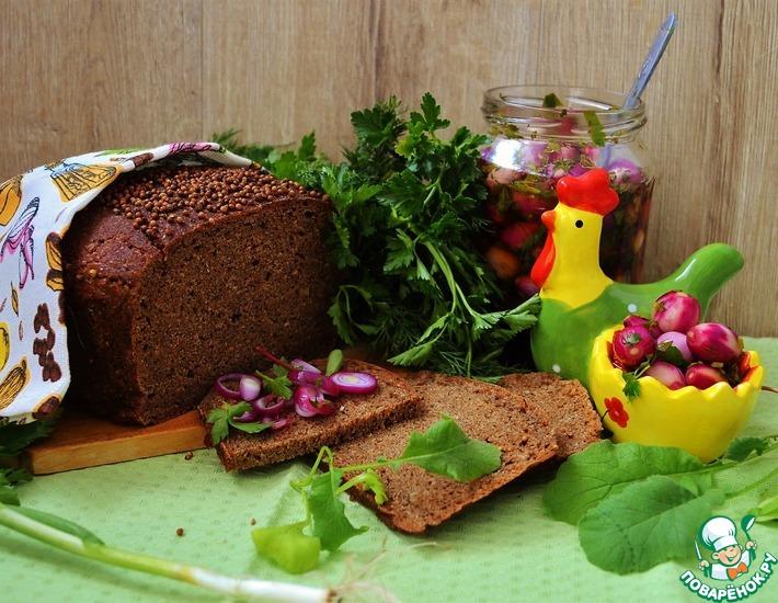 Рецепт: Хлеб с отрубями и пикантным топпингом