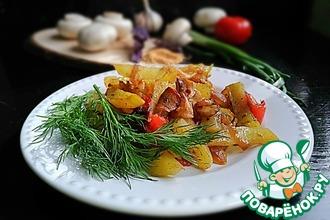 Рецепт: Картофель с грибами в рукаве