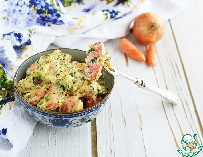 Рецепт: Морковь в сливках