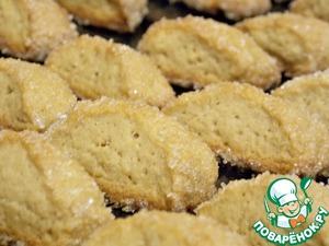 Выпекать при t= 180 до золотистого цвета, примерно 20 мин. Сразу отделить печенье от противня и только потом дать остыть. Иначе потом не оторвете не поломав его.