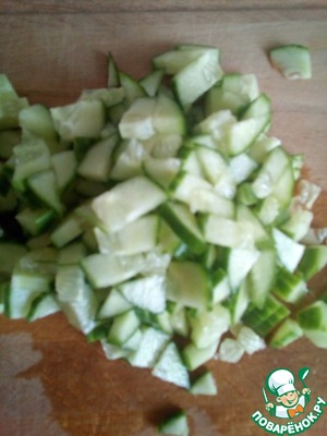 Cucumber cut into