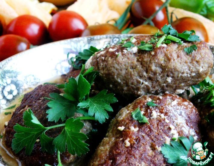 Рецепт: Колбаски мясные кашмирские