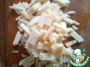 Cheese cut into strips