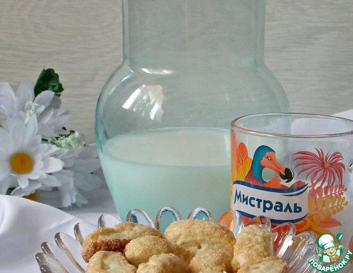 Рецепт: Дрожжевое сахарное печенье