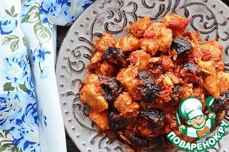 Рецепт: Курица с черносливом в томатном соусе