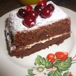 Шоколадный брауни с творожным сыром