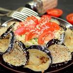 Салат с баклажаном и пекинской капустой
