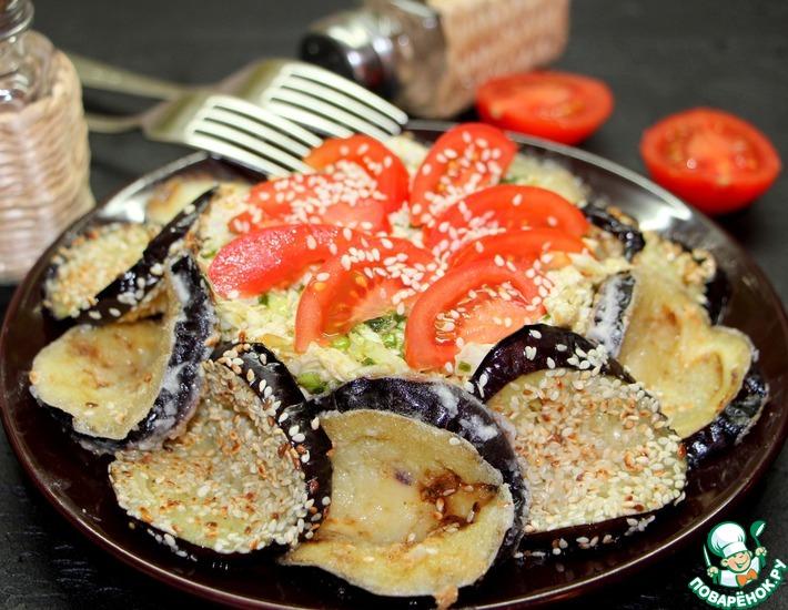 Рецепт: Салат с баклажаном и пекинской капустой