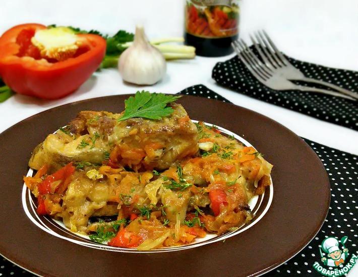 Рецепт: Треска с овощами