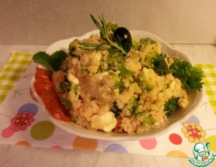 Рецепт: Теплый салат с броколли и кускусом