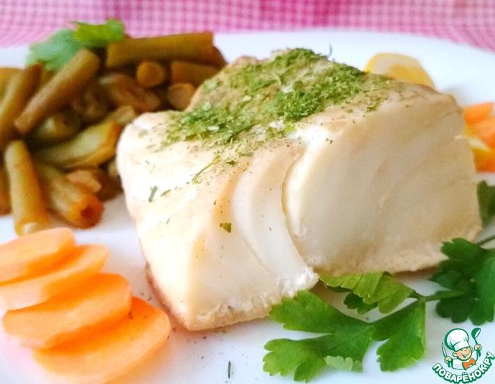 Рецепт: Филе трески с зеленой фасолью