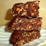 Тыквенно-шоколадный кекс с овсяными хлопьями
