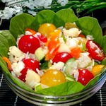 Салат рисовый с овощами