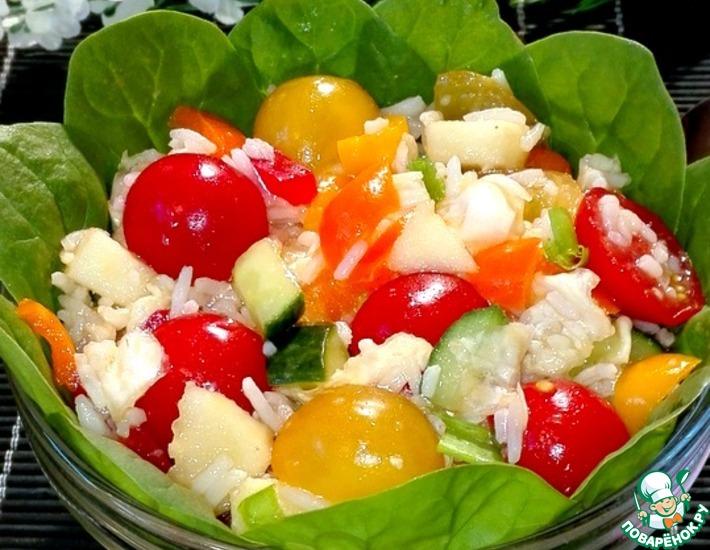 Рецепт: Салат рисовый с овощами
