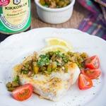 Жареная рыба с русской сальсой